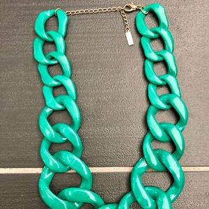 Baublebar Green Chunky Chain-Link Necklace